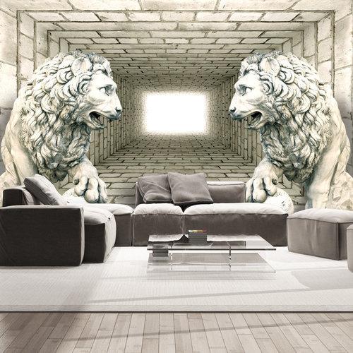 Fotobehang - Mysterie van 2 leeuwen II