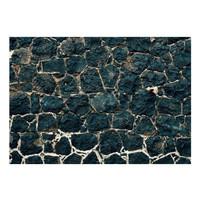 Fotobehang -Muur van zwarte rotsblokken II