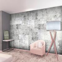 Fotobehang - Grijze stad , Beton, premium print vliesbehang