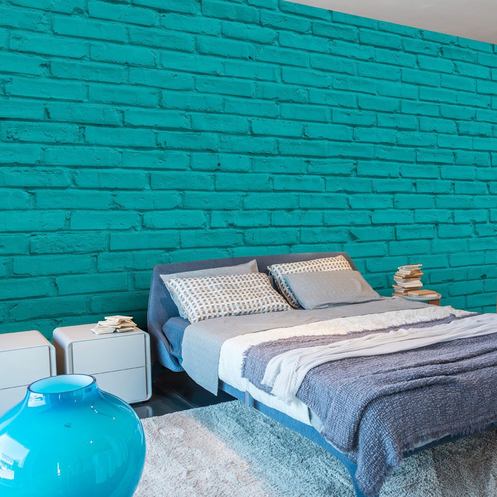 Fotobehang - Turquoise Muur