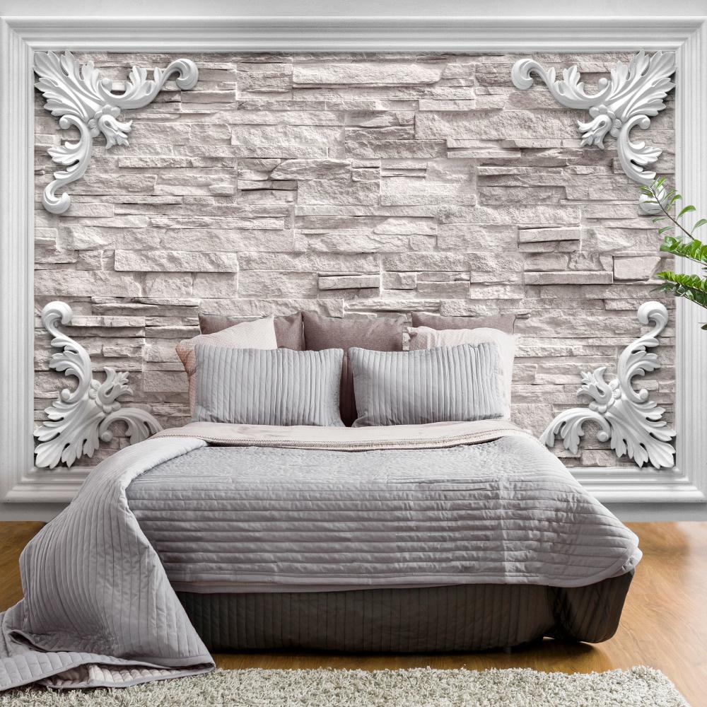 Fotobehang - Brick in the Frame (Beige)