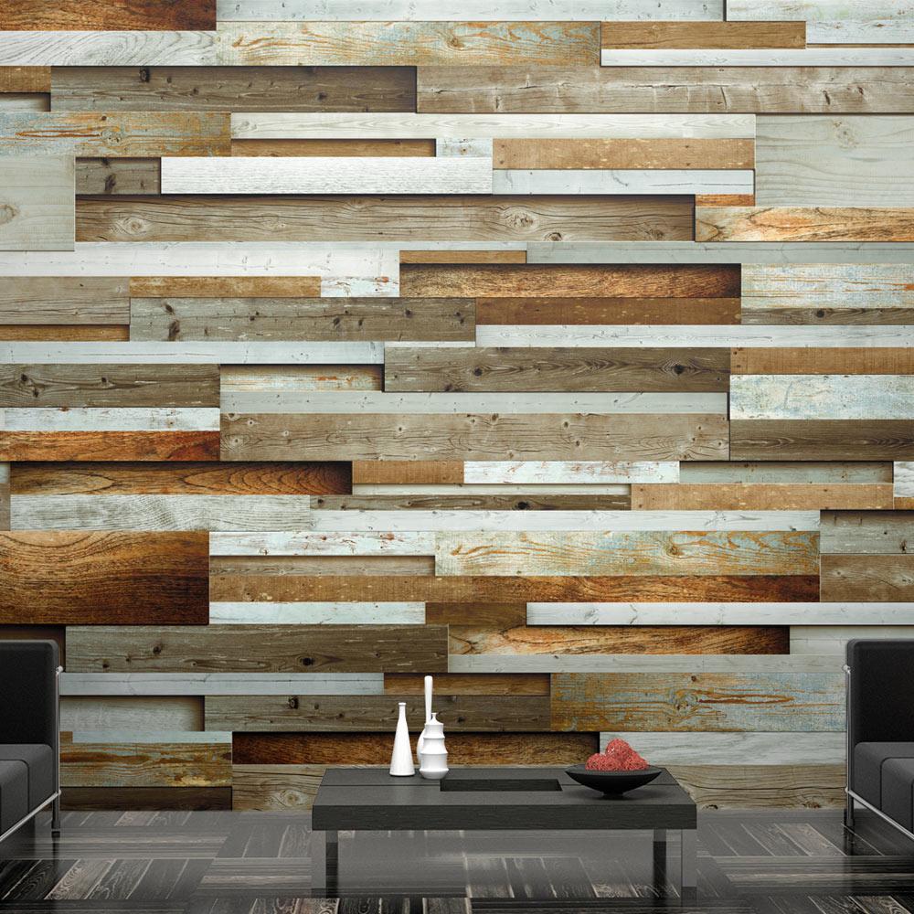Fotobehang - Varieteit van hout