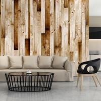 Fotobehang - Lichte planken II
