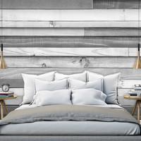 Fotobehang - Grijze variëteit van planken, premium print vliesbehang