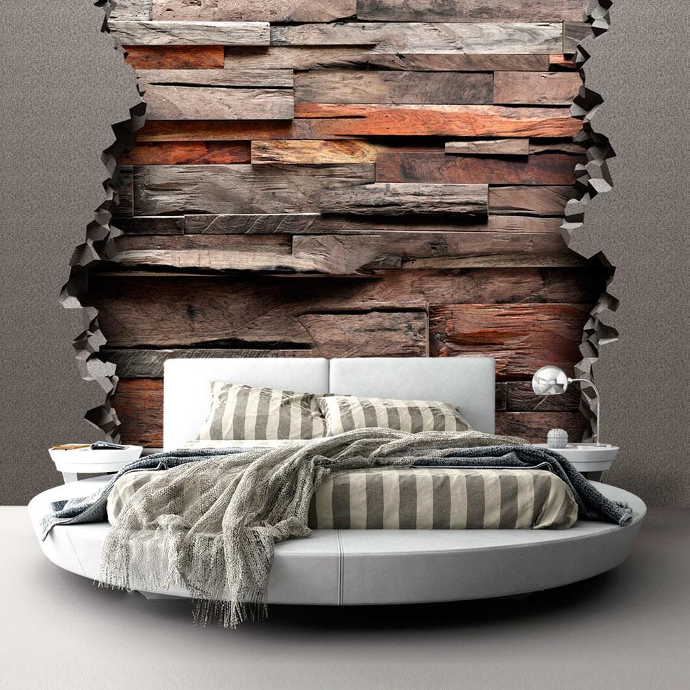 Fotobehang - Verstopt hout