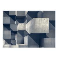 Fotobehang - Betonnen stad, premium print vliesbehang