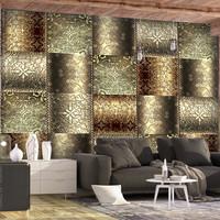 Fotobehang -Metalen platen, premium print vliesbehang