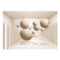 Fotobehang - Beige Ballen