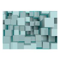 Fotobehang - Blauwe Puzzel