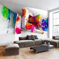 Fotobehang - Kleurrijke 3 D vormen, premium print vliesbehang