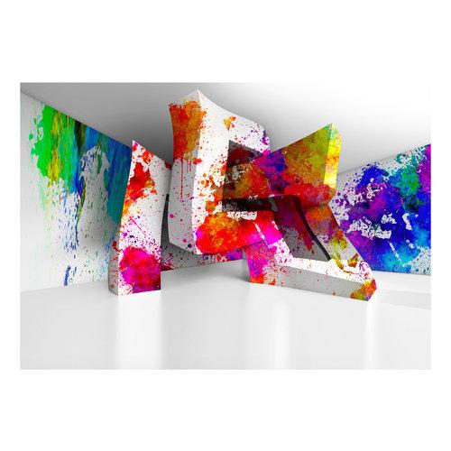 Fotobehang - Kleurrijke 3 D vormen
