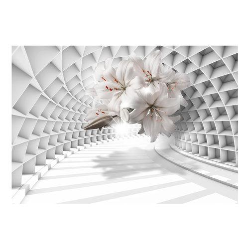 Fotobehang - Lelies in een tunnel