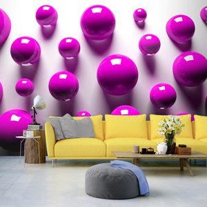 Fotobehang -Paarse Ballen