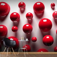 Fotobehang - Rode Ballen