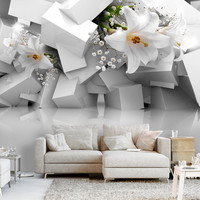Fotobehang -Lelies verloren in de Chaos