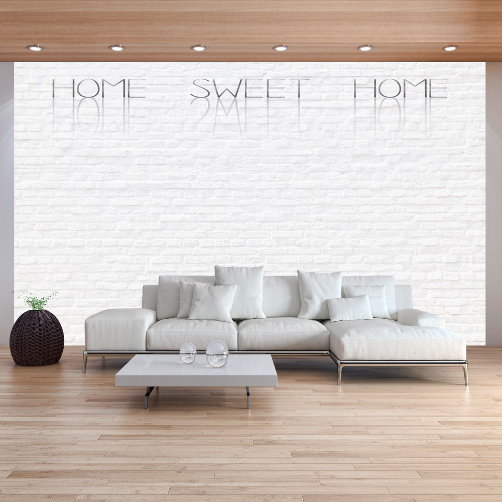 Fotobehang - Home, sweet home - witte muur