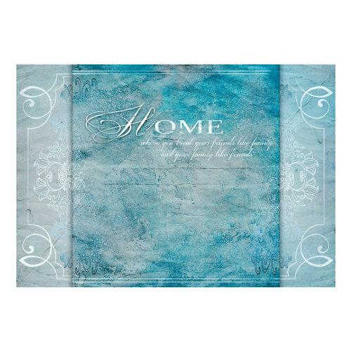 Fotobehang - Home, where you ... , in blauw