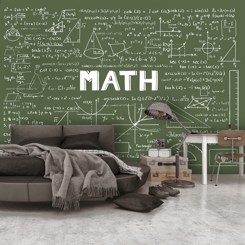 Fotobehang - Wiskundige berekeningen op een schoolbord II