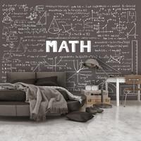 Fotobehang - Wiskundige berekeningen op een schoolbord