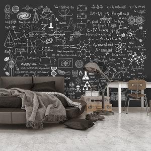 Fotobehang - Wetenschap op een schoolbord