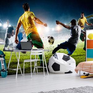 Fotobehang - Beslissende Tackle , Voetbal