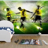 Fotobehang - Laten we spelen ! , Voetbal, premium print vliesbehang