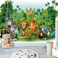 Fotobehang - Dieren uit de Jungle, premium print vliesbehang