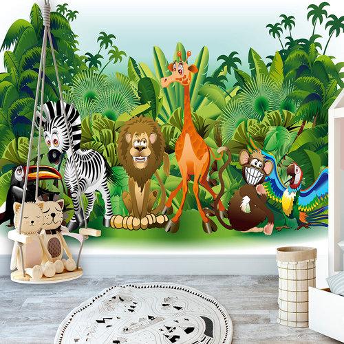 Fotobehang - Dieren uit de Jungle