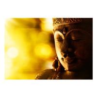 Fotobehang - Boeddha - Verlichting, premium print vliesbehang