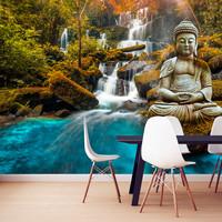 Fotobehang - Oase van de ziel, Boeddha, premium print vliesbehang