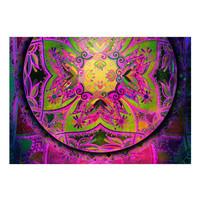 Fotobehang - Mandala: Lila Uitdrukking