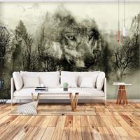 Fotobehang - Wolf in de bergen  II