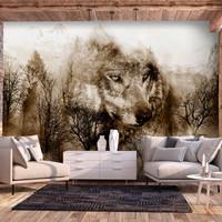 Fotobehang - Wolf in de bergen  III