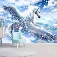 Fotobehang - Pegasus ( Blauw ), premium print vliesbehang