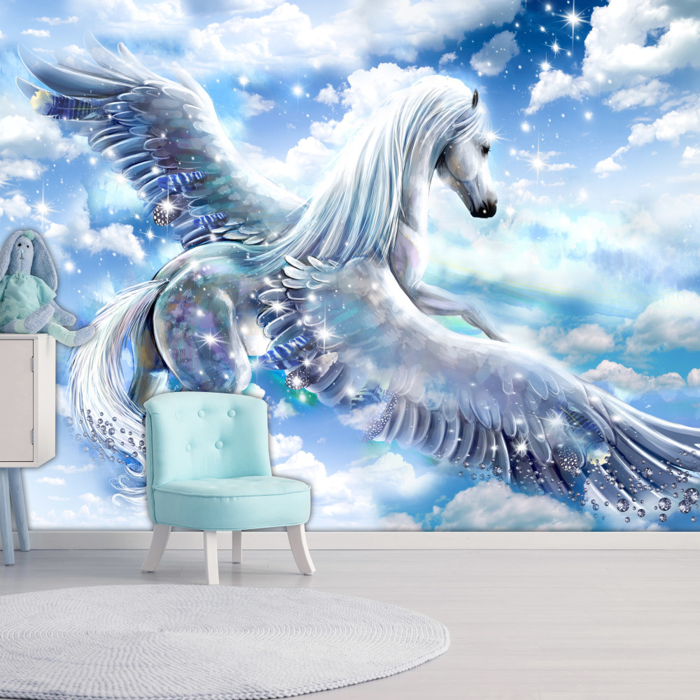 Fotobehang - Pegasus ( Blauw )