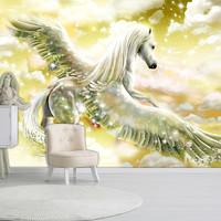 Fotobehang - Pegasus (Geel)