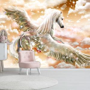 Fotobehang - Pegasus (Oranje )