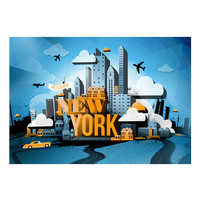 Fotobehang - New York - welkom, premium print vliesbehang