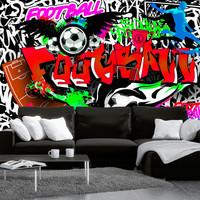 Fotobehang -Passie voor Voetbal , Football, premium print vliesbehang