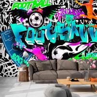 Fotobehang -Passie voor Voetbal , Football II , Graffiti