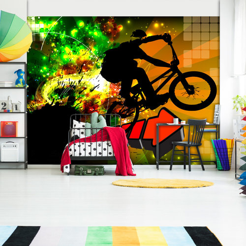 Fotobehang - Mountainbike , premium print vliesbehang