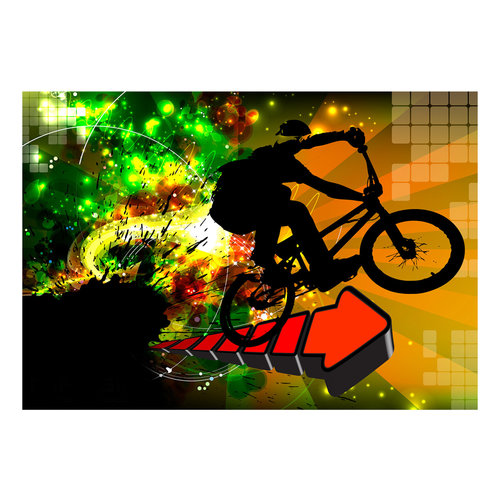 Fotobehang - Mountainbike