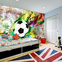 Fotobehang - Urban voetbal, premium print vliesbehang