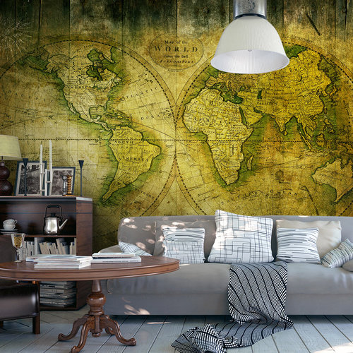 Fotobehang -  Reis door een oude wereld