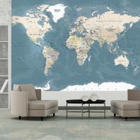 Fotobehang - Vintage World Map, premium print vliesbehang