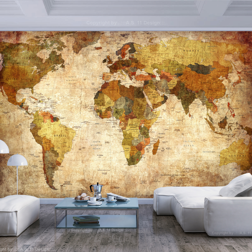 Fotobehang - Oude wereldkaart
