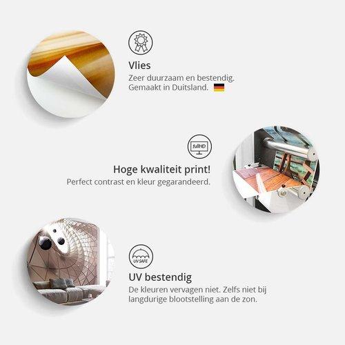 Fotobehang - Wereldkaart op planken (Behang)