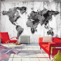 Fotobehang -  Grijze wereld, premium print vliesbehang