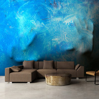 Fotobehang - Blauwe aanraking, premium print vliesbehang