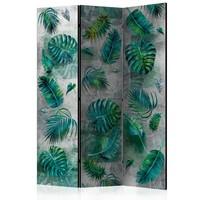 Vouwscherm - Moderne jungle 135x172cm, gemonteerd geleverd, dubbelzijdig geprint (kamerscherm)
